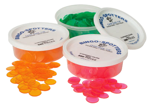 """Tub of 7/8"""" Non Magnetic Bingo Chips by the Dozen"""