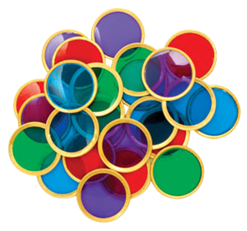 Bag of 100 Magnetic Bingo Chips, Metal Ring Outside of Chip