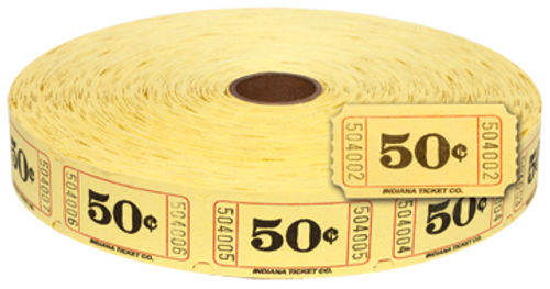 .50¢ Single Roll Tickets