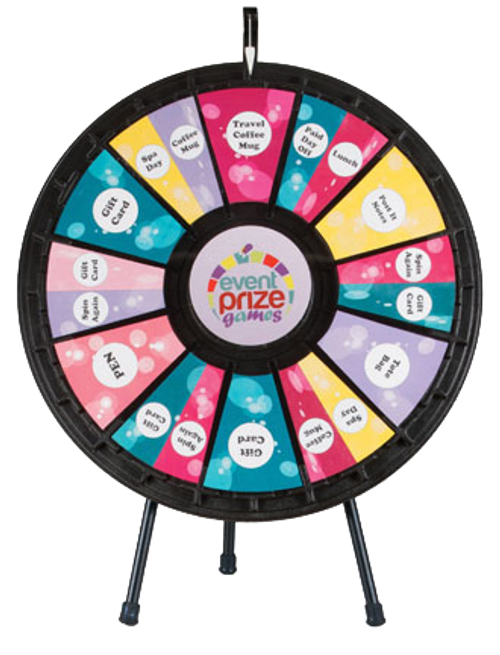 12 to 24 Slot Adaptable Table Top Prize Wheel 31""