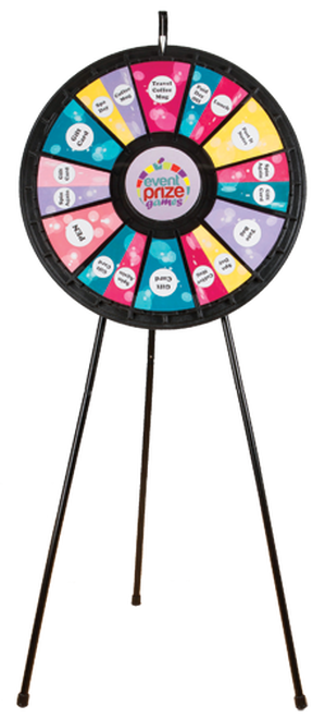 """12 to 24 Slot Adaptable Floor Stand Prize Wheel 31"""""""