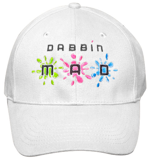 Dabbin Mad Hat White