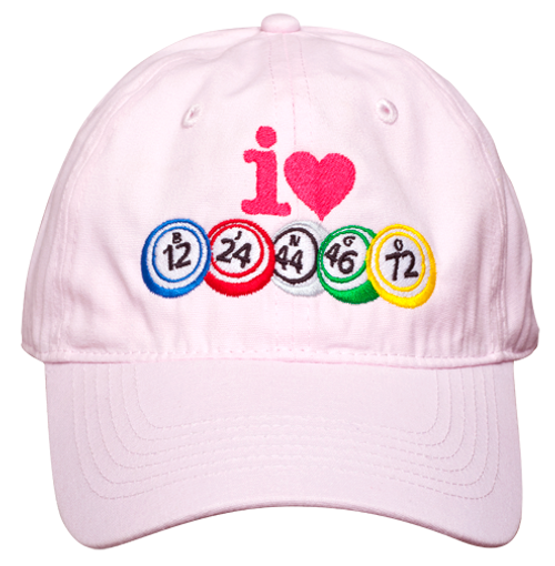 I Love Bingo Hat Pink