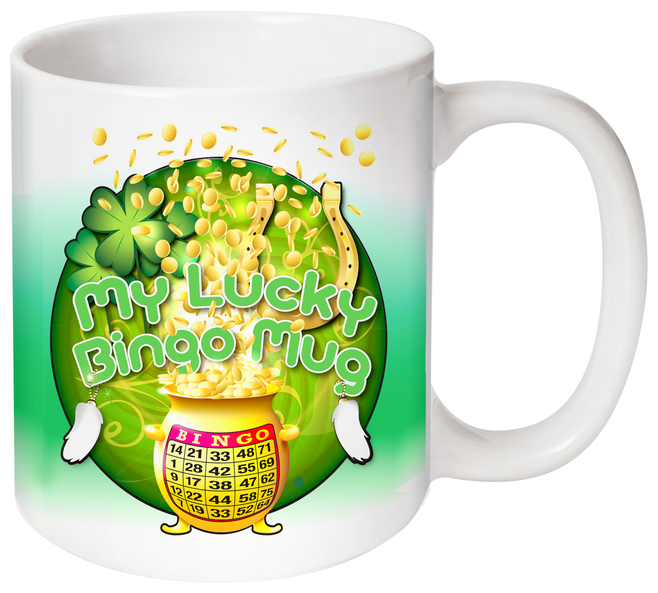 My Lucky Bingo Green Mug