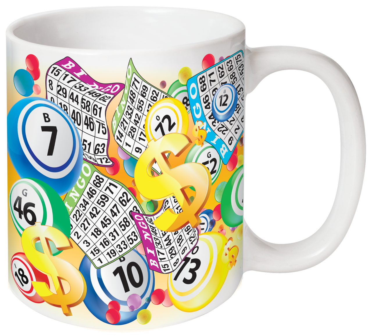 Balls and Bingo Sheets Mug