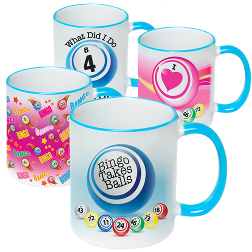 Blue Trim Bingo Coffee Mug