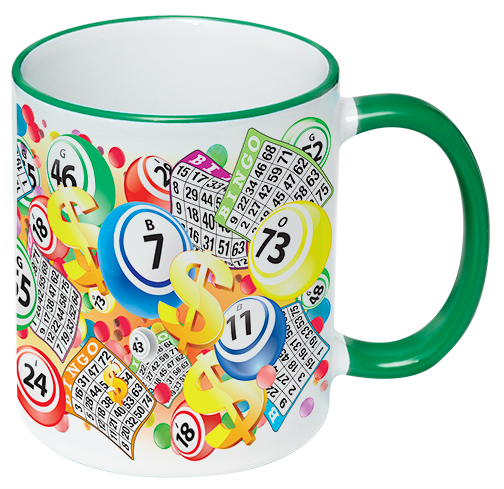 Green Trim Bingo Coffee Mug