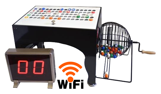 Table Top Bingo Cage with LED Display