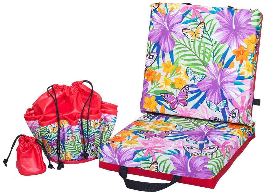 Butterfly Garden Double Cushion & Tote Set