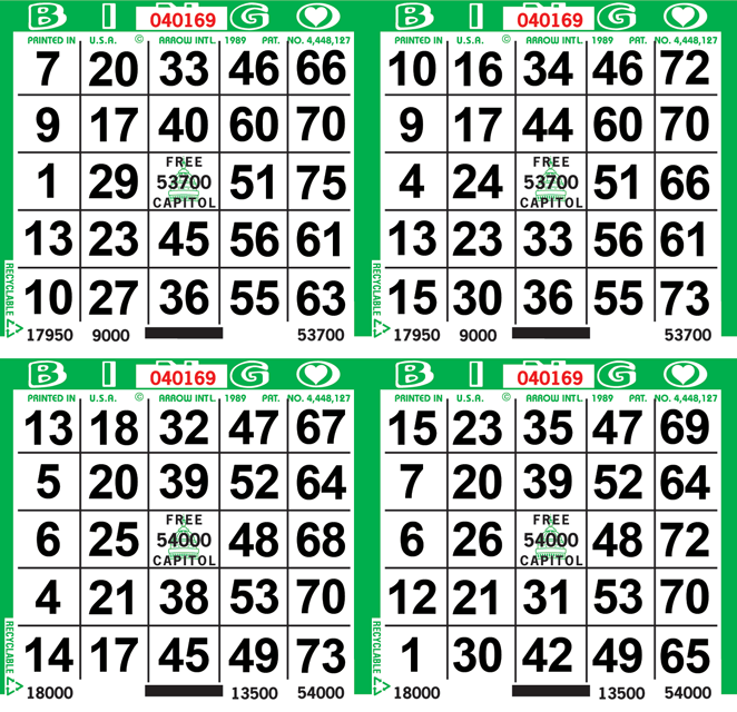4on Border Bingo Paper By The Case
