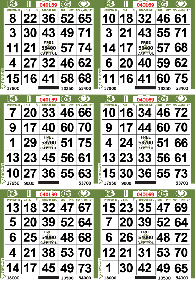 6on Border Bingo Paper By The Case