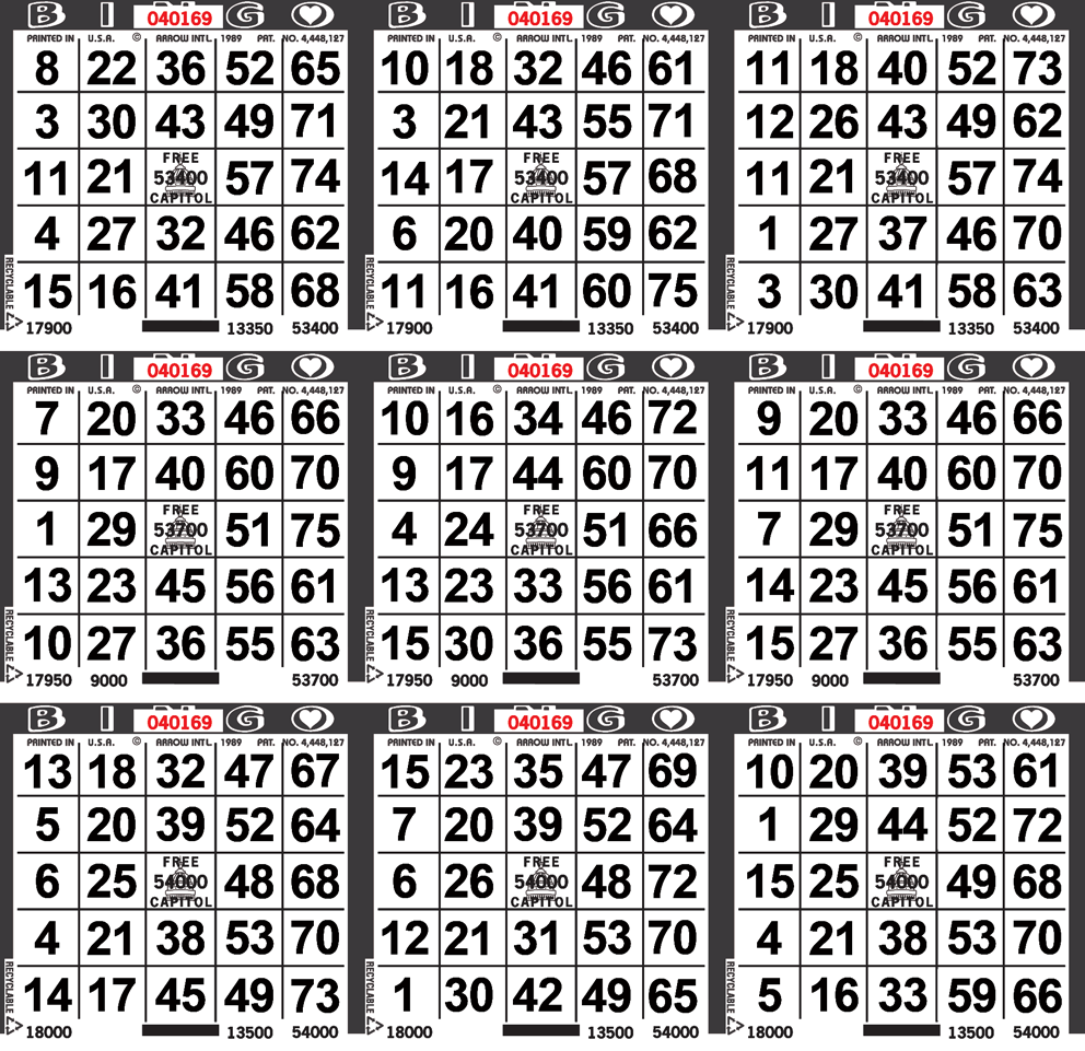 9on Square Border Bingo Paper By The Case