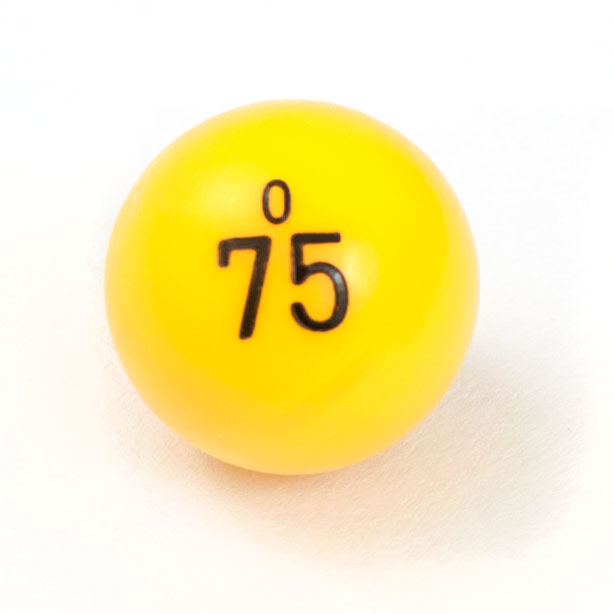 "7/8"" Plastic Non Window Bingo Balls"
