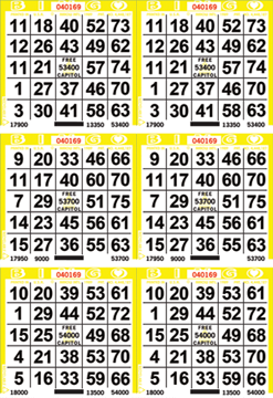 6on Bingo Paper By The Bundle