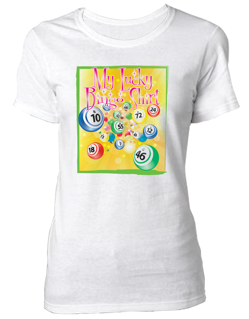 T-Shirt Lucky Bingo Shirt, Lucky Yellow