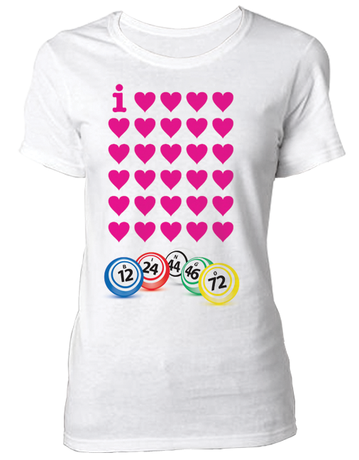 T-Shirt I Heart Bingo