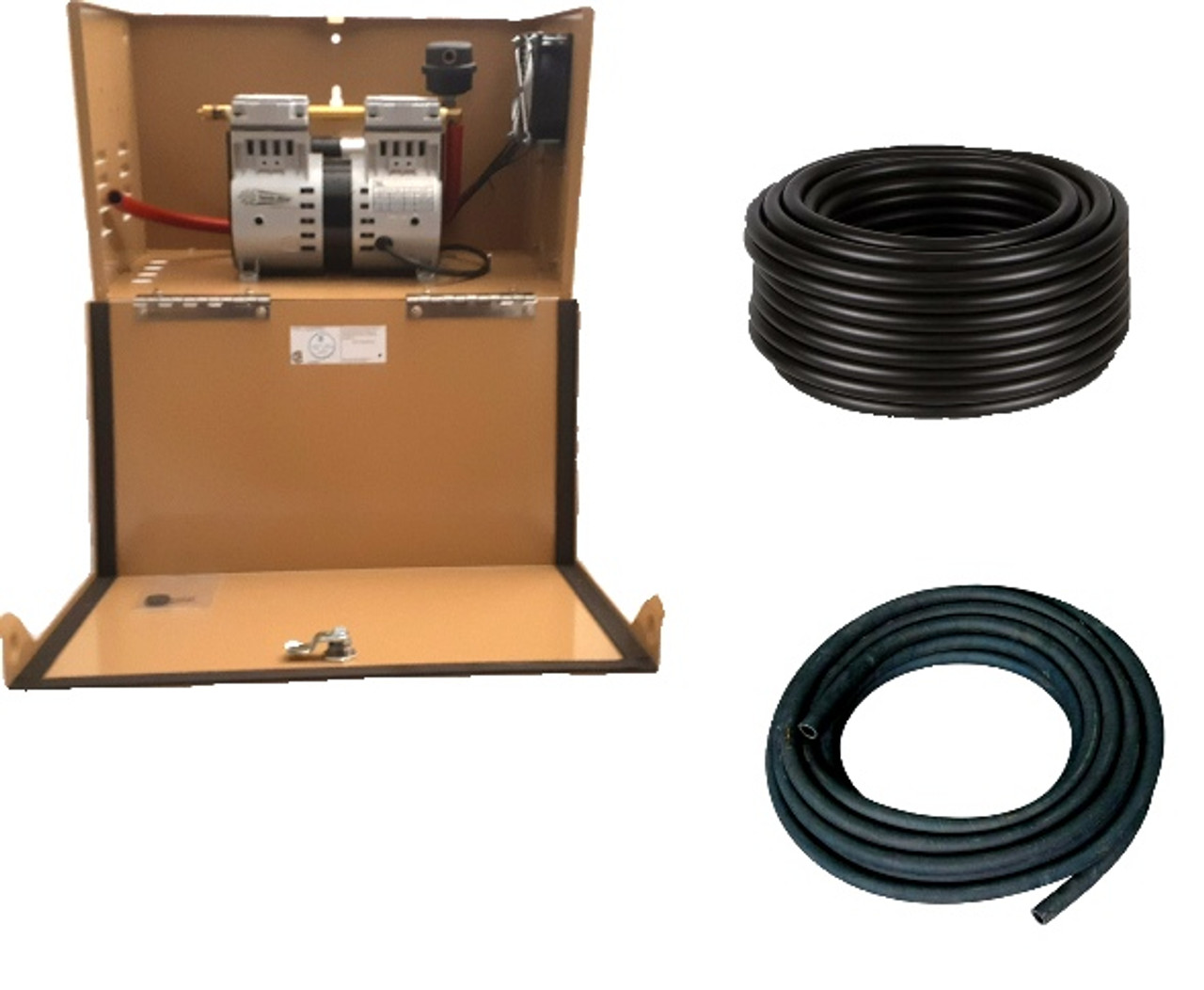 Can-Air Shallow Pond Aeration Bubbler System 2 with KM 120 compressor and Cabinet