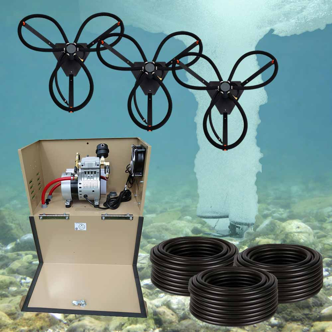 Can-Air 3 Diffuser Solr Pond Aeration System