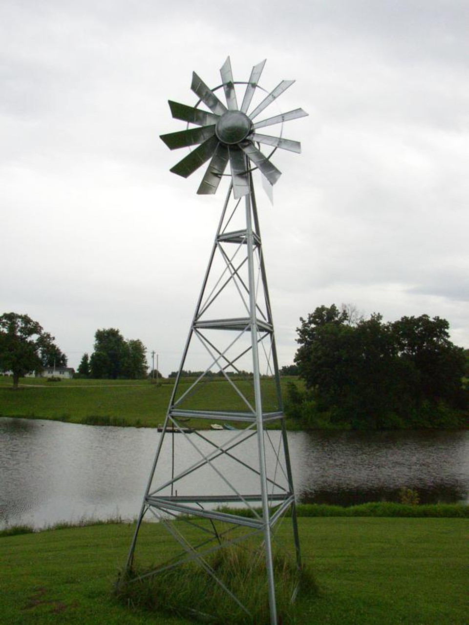OWS Galvanized 12ft Windmill