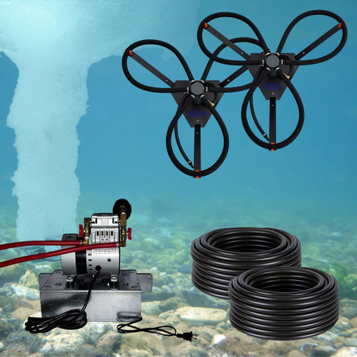 Can-air 2 ss diffused pond and lake aeration system