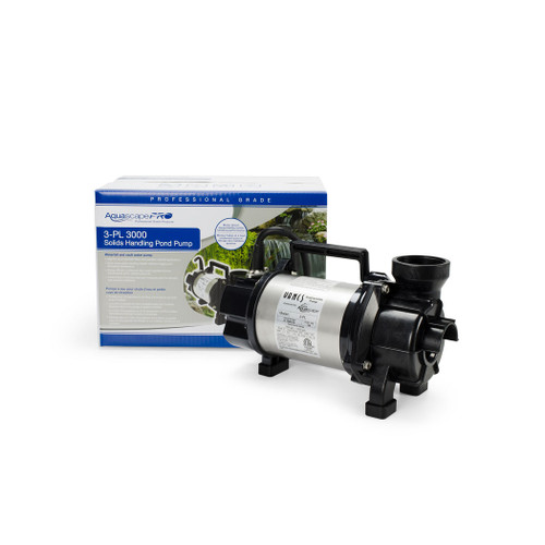 3-PL 3000 Solids-Handling Pond Pump for ponds, water gardens, waterfall, water features