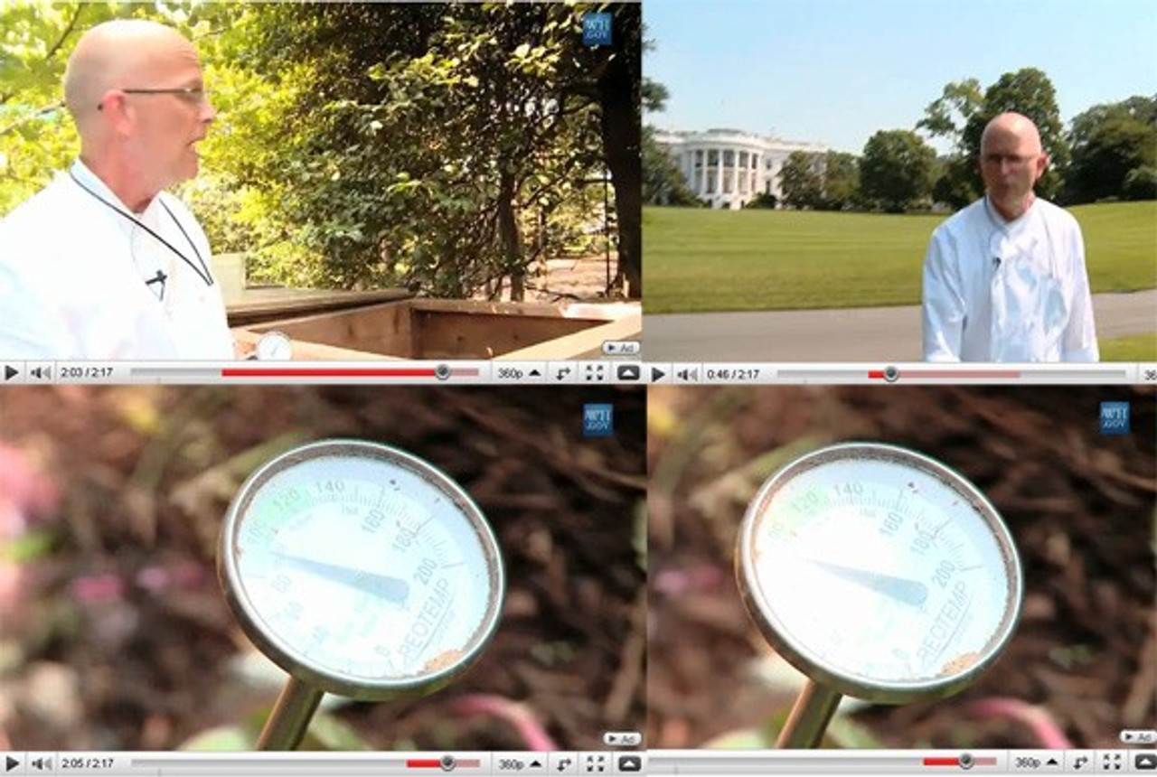 Backyard Compost Thermometer is used in the white house...