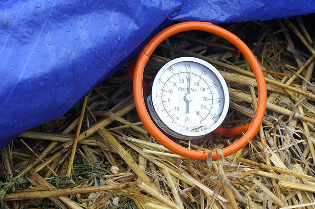 Reotemp compost thermometer with probe guard handle