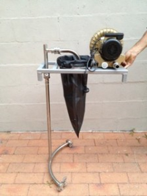 Here is the compost tea teabag used in conjunction with a BioVital 200 compost tea brewer kit