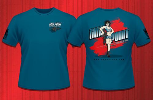 Gun Point Girl - SPWS Logo Shirt (Sapphire Blue)