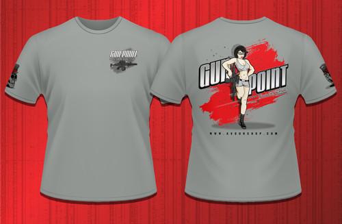 Gun Point Girl - SPWS Logo Shirt (Grey)