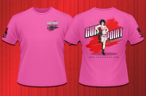 Gun Point Girl - SPWS Logo Shirt (Pink)