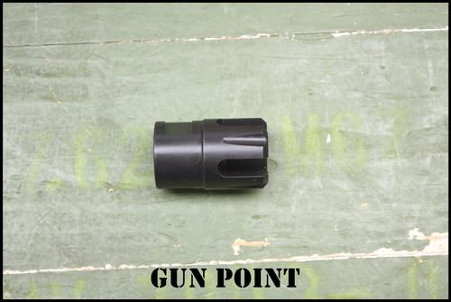 GUN POINT 9MM 4 PRONG FLASH HIDER .920 DIAMETER ½ x 28 THREAD PITCH