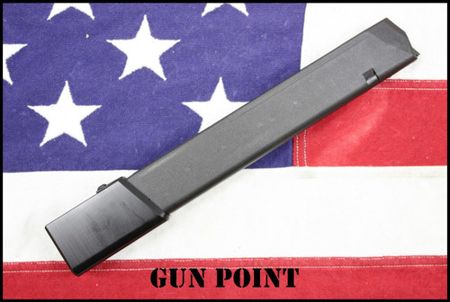 GUN POINT CUSTOM GLOCK 40 ROUND 9MM MAG for G19 G17 G26 G34 and AR9 / AR15 Glock Mag PCC  Carbines (BLK))