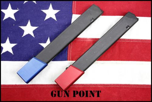 GUN POINT CUSTOM GLOCK 40 ROUND 9MM MAG for G19 G17 G26 G34 and AR9 / AR15 Glock Mag PCC  Carbines  !!