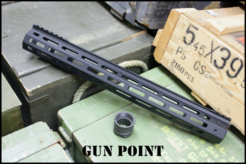 "Gun Point Avenger 15.5"" Custom Super Lightweight Rail for AR15 / AR9 Platform."