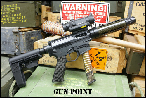"Gun Point Custom Shop ""Carbonmatic"" 9mm AR15 PCC Pistol"