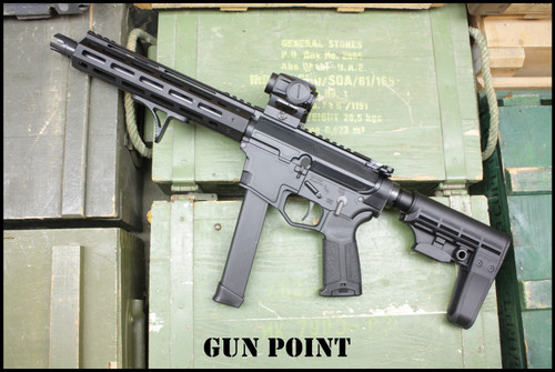 "Gun Point  9.5"" Custom Shop Avenger GEN II 9mm AR15 PCC Pistol"