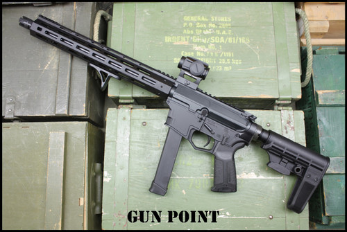 "Gun Point Custom Shop 13.5"" Avenger GEN II 9mm AR15 PCC Pistol"