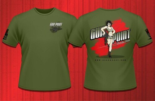 Gun Point Girl - SPWS Logo Shirt (Military Green)