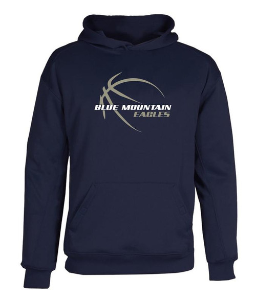 Blue Mountain Basketball D1 Dry Fit Hoody