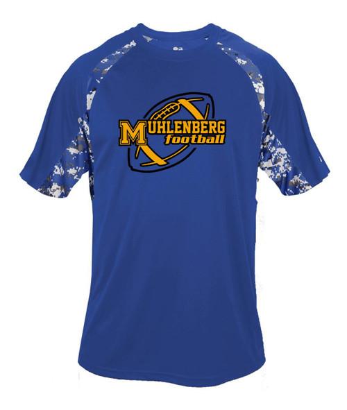 Muhl Football D7 Digital Camo Dry Fit T-shirt