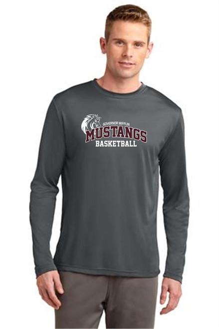 Governor Mifflin Basketball Long Sleeve Dry Fit T-shirt