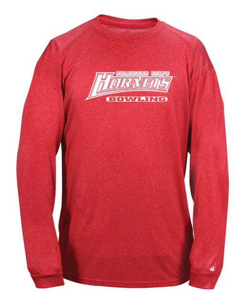 Delaware State Bowling  Heathered Long Sleeve Dry Fit D2