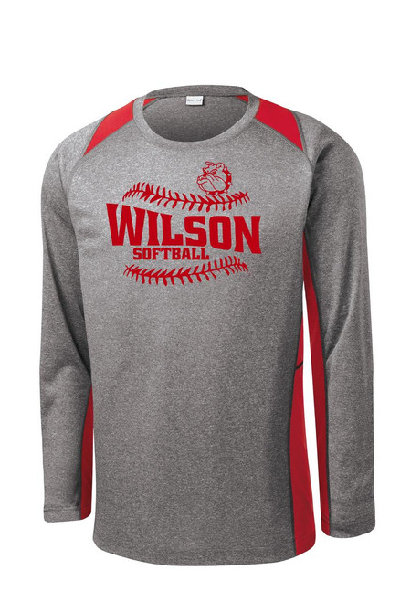 Wilson Softball Color Block Long Sleeve Dry Fit