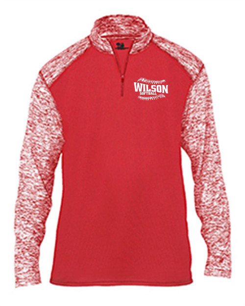 Wilson Softball 1/4 zip with Blended Sleeves