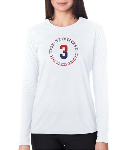 3up3down Ladies Long Sleeve T-shirt