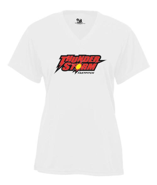 Thunderstorm Ladies V-neck Dry Fit T-shirt