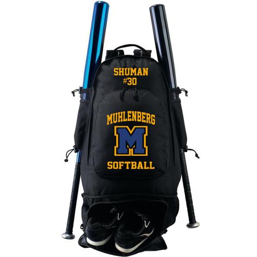 Muhl Softball Expandable Bat Backpack Bag