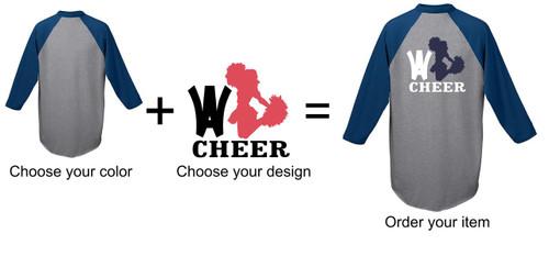 Wyomissing Cheer 3/4 Sleeve T-shirt