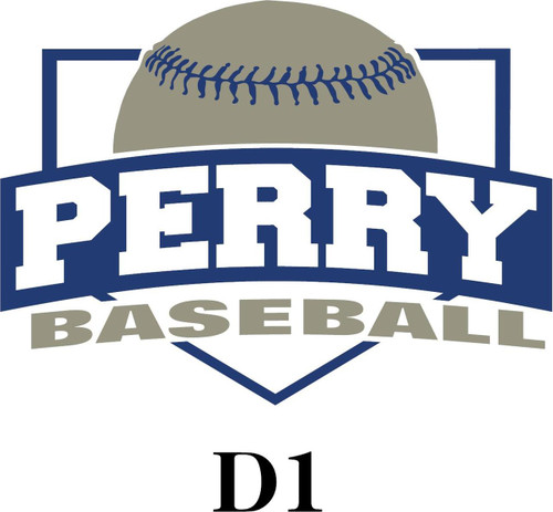 Perry Baseball Ladies V-neck T-shirt